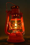 Old Oil Lantern. This is a lit old kerosene lantern Royalty Free Stock Image