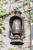 Old oil lantern in the garden Stock Photography