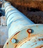 Old Oil Pipeline Stock Photo