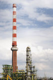 Old Oil Refinery. Abandoned industrial ruine of an oil refinery Stock Photo