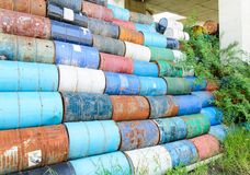 Old oil tank Royalty Free Stock Photo