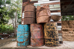The old oil tanks Stock Photos