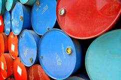 Old oil tanks after uesd Royalty Free Stock Photo