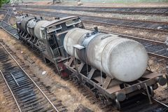 Old oil train in srilanka Royalty Free Stock Images