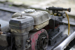 Old oily machine royalty free stock images