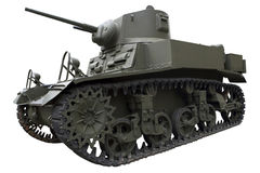 Old olive light tank Royalty Free Stock Photos