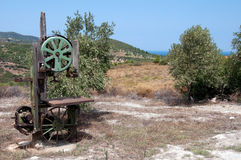 Old olives press Stock Image