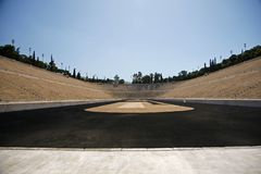 Old olympic stadium in Athens in Greece. Old olympic stadium in Athens presented olympic games in Greece Stock Photos