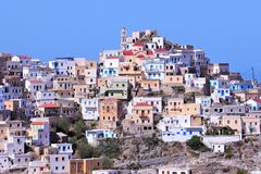 Old Olympos town close up. At island karpathos, greece Stock Images
