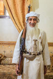 Old Omani man in traditional outfit Stock Photos