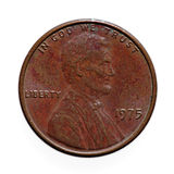 Old one cent coin Royalty Free Stock Photography