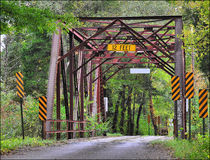 Free Old One Lane Steel Bridge Stock Image - 13473031