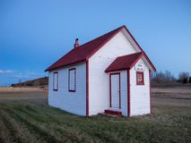 Old one room school house royalty free stock photo