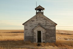 Old one room school house. stock photos