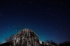 Free Old Ontario Barn And The Night Stars Trailing Stock Image - 88952771
