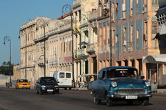 Old Opel on Malecon Royalty Free Stock Images