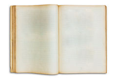 Old open blank book isolated Royalty Free Stock Photo