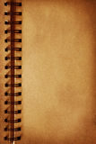 Old open blank notebook Stock Photography