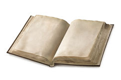 Old open book. With two blank pages royalty free stock images
