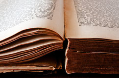 Old open book. An very old open book Royalty Free Stock Photography