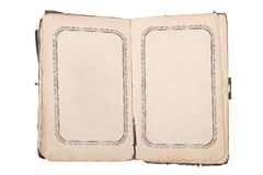 Old open book with blank pages Royalty Free Stock Photography