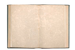 Old open book with blank pages isolated Stock Photo