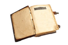 Old open book with blank pages Stock Photo