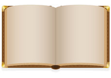 Old open book with blank sheets. Vector illustration isolated on white background Royalty Free Stock Image