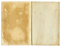 Old Open Book Featuring Rough Paper Texture Royalty Free Stock Photography