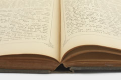 The old open book - the gospel. In Old Russian language Royalty Free Stock Image