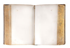 Old open book, isolated Stock Images