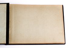 Old open book / photo album Royalty Free Stock Image