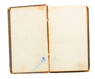 Old open book Stock Photos