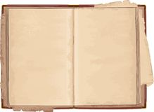 Old open book Royalty Free Stock Photography