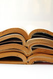Old open books stacking Stock Image