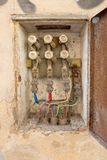 Electrical box old stock photos