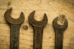 Old open end wrenches Stock Photos