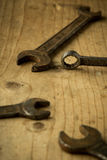Old open end wrenches Stock Photography