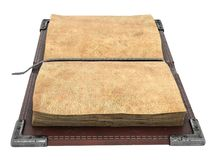 Old open book on isolated white background. 3d illustration Royalty Free Stock Photography