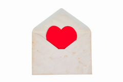 Old open letter envelope Royalty Free Stock Images