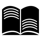 Old open magic book icon , simple style Stock Photography