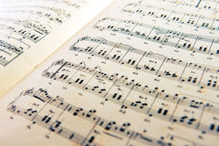 Old open music score Royalty Free Stock Photography