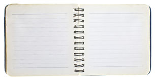 Old open notebook Stock Images