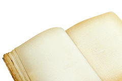 Old open notebook close-up Royalty Free Stock Photo
