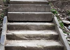 An old open outdoor stone staircase. royalty free stock images