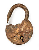 Old open padlock Stock Image