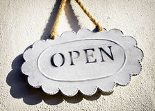 Old open sign Royalty Free Stock Photo