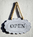 Old open sign Royalty Free Stock Images