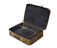 Old open suitcase Stock Images