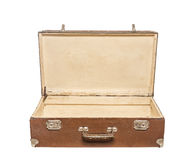 Old open suitcase. Stock Photos